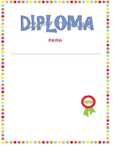 diplomas para imprimir. Haz click en el diploma que