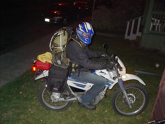 Motorcycle - fully loaded