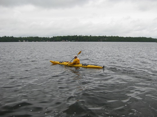 Jim kayaking