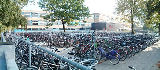 Dutch School Bicycle Parking Lot