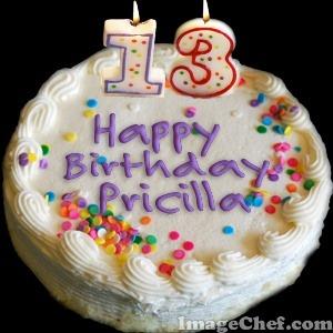 happy13thbithdaypricilla