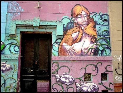 Subestación Mitre, Arte urbano, Triángulo dorado (Pedro Panichelli, Santiago Panichelli y Francisco Ferreyra),