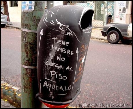 Tiene hambre, graffiti, Buenos Aires