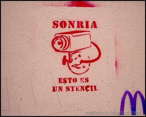 Sonría II, Graffiti, Stencil, Buenos Aires