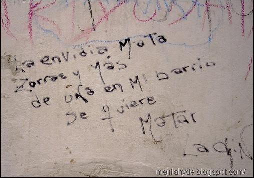 Mata zorras, graffiti