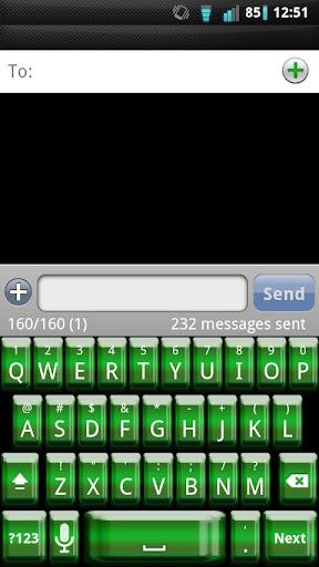 Shiny Green Keyboard Skin