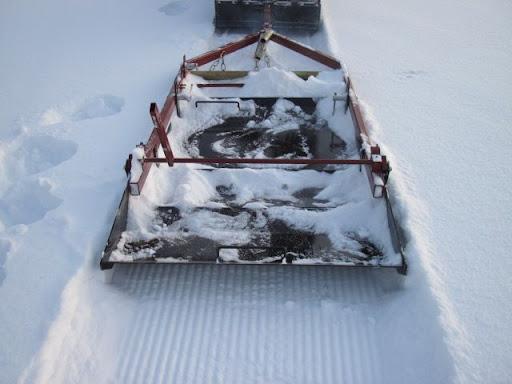 Борона для подготовки лыжной трассы своими руками