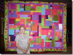 Bernice H. with quilt