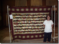 Betty S with quilt 2