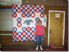 Janet B with quilt