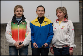 IWKL Munich 2010. Chaika (2nd), Kostevych (1st), Smirnova (3rd).