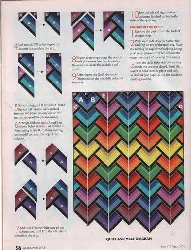 Печворк.  Схемы блоков для создания композиций. источник.
