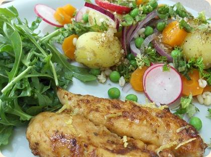 Sommergrønt med kylling