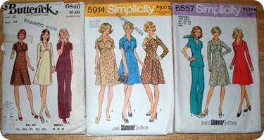 70's dresses and pants suits