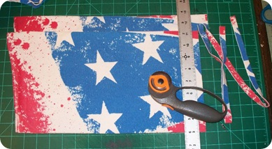 flag shirt folded