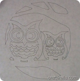 full moon owl stencil 1