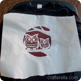 full moon owl stencil 3