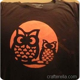 full moon owl stencil 4