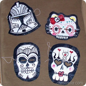 sugar skull family masks