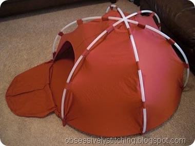 hula hoop dome tent
