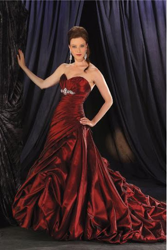 Red Bridal Gowns 2010