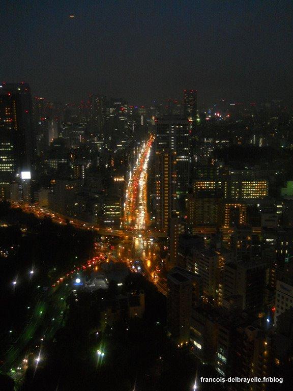 Vue depuis la tour de Tokyo