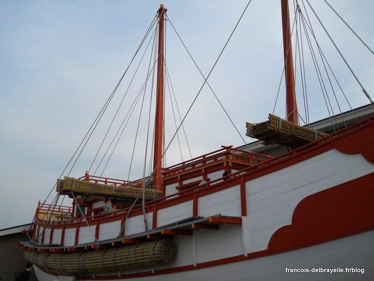 Reconstitution d'un bateau d'émissaires pour la Chine