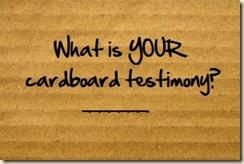 cardboard testimony 2