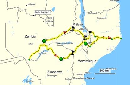 Trajecto Zambia-MOZ