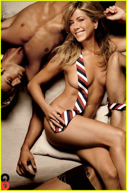 Jennifer Aniston Necktie Nude