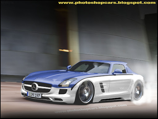 Mercedes Benz SLS AMG rebaixado tuning borrachão burnout