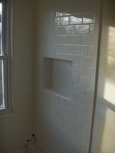 Creative Tile Around Window  Bathroom  Pinterest