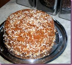 choc coconut cake