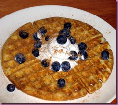 wafffle w blueberries