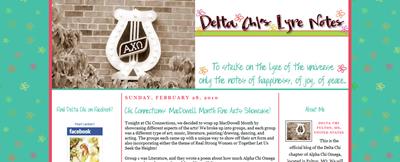 delta chi's lyre notes
