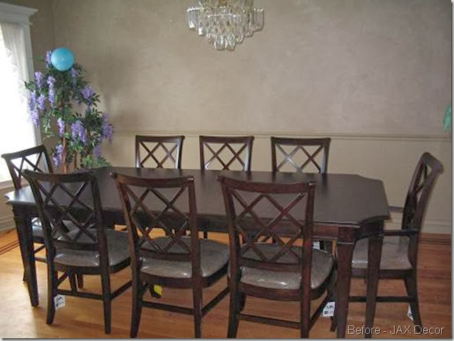 before with chairs and table