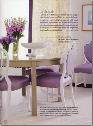 lavender ostrich chairs SAH