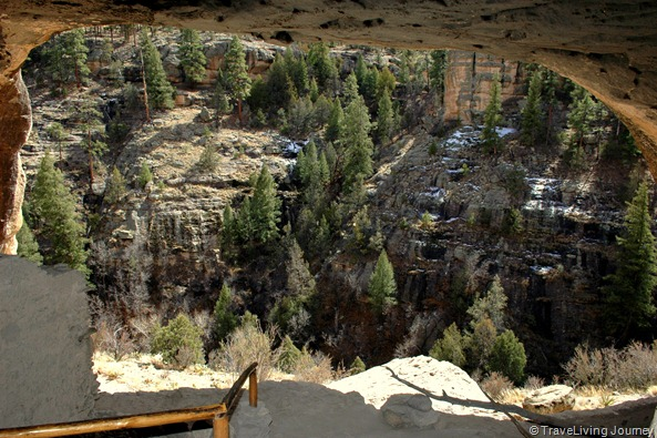 Cliff Dwellings view from the second Cave