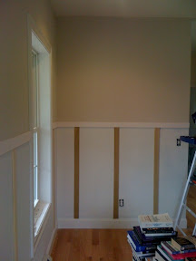 how to finish off wainscoting