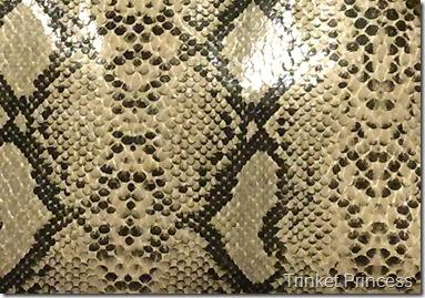 faux snakeskin