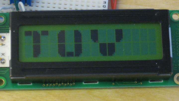 Large alphanumeric on lcd