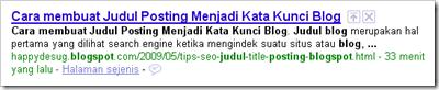 Tips SEO struktur Judul Posting