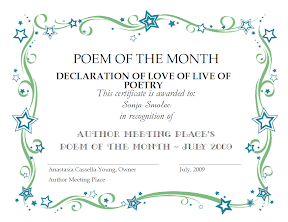 POEM OF THE MONTH, JULY 2009 - AUTHOR'S MEETING PLACE