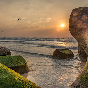 Sunset  by Walid Ahmad - Landscapes Beaches ( dubai, sunset, uae, landscape, nikon, photography )