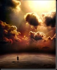 storm nature ar sunset