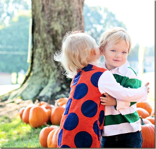 Emily Grace & Crawford at Pumpkin Patch
