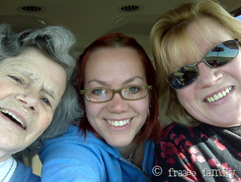 Grandma, me, Mom