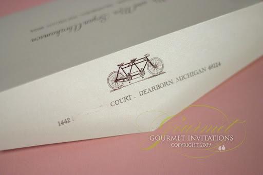 Kristen Michael Michigan Map Wedding Invitations