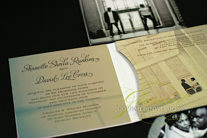 Shanelle David Detroit Inspired Cd Invitations Gourmet Invitations