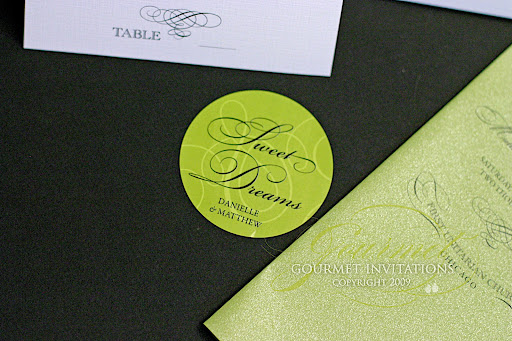 Gourmet Invitations Blog Danielle 39s Vintage Lime Green and Black Wedding